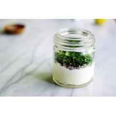 sauce yaourt, ail ou échalotes  et fines herbes